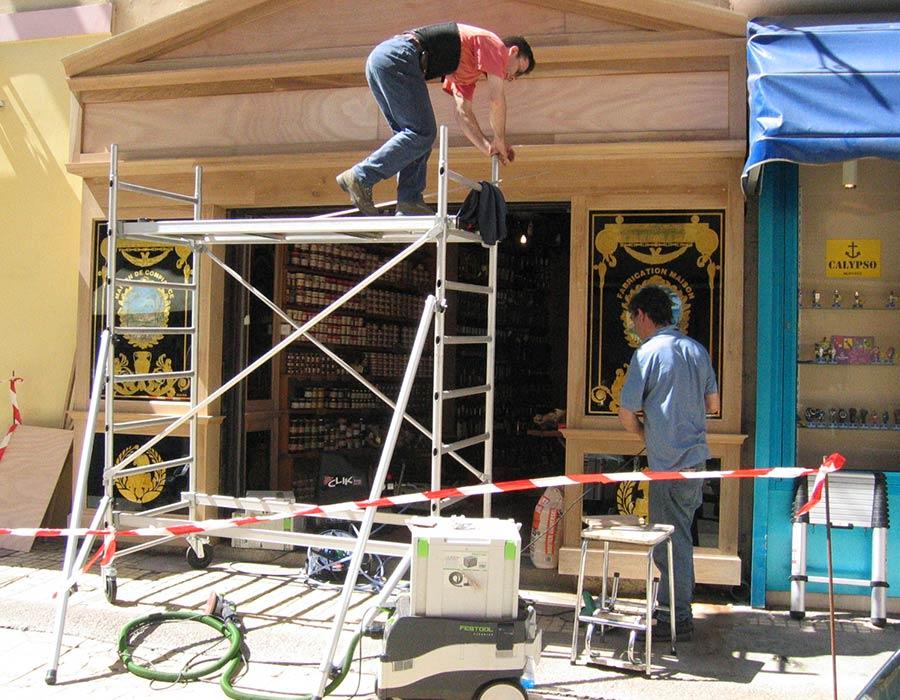 La Guéronnière Renovation Facade Boutique Bois Paris Img14 2