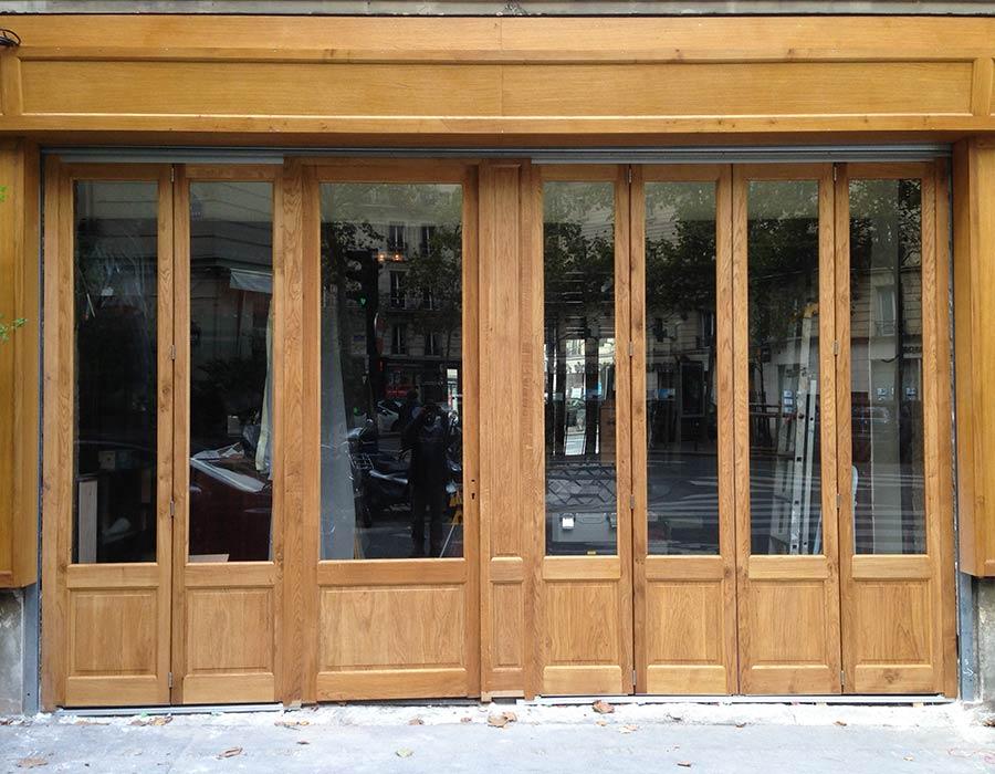 La Guéronnière Renovation Facade Boutique Bois Paris Img17 1