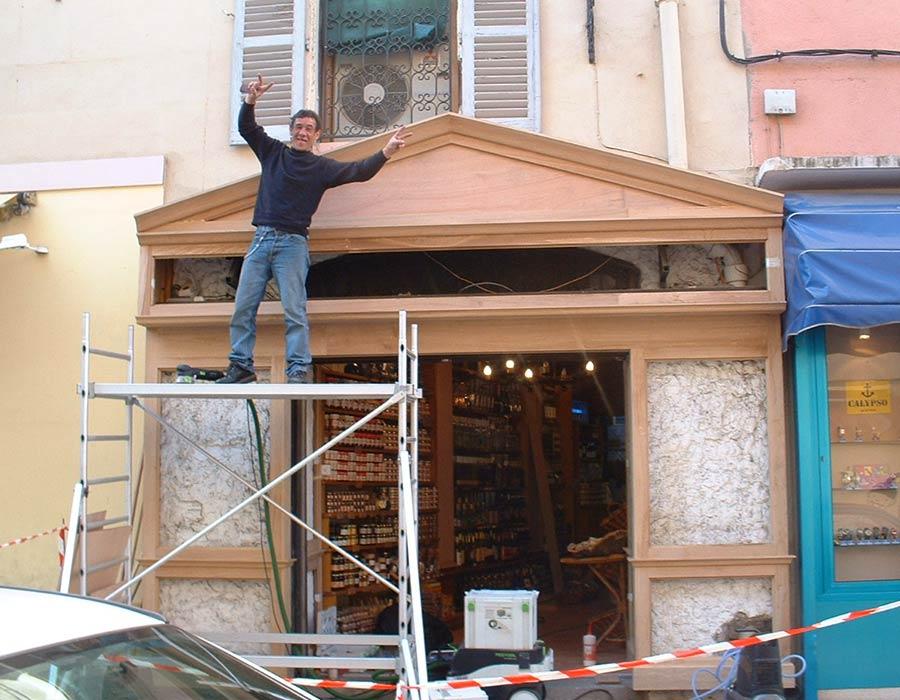 La Guéronnière Renovation Facade Boutique Bois Paris Img19 1