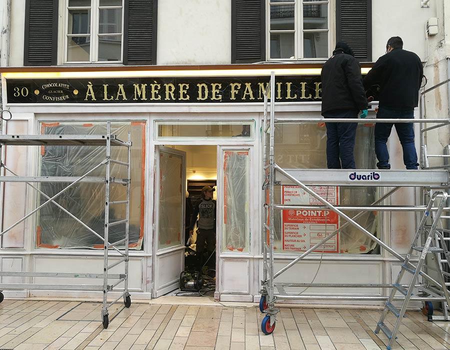 La Guéronnière Renovation Facade Boutique Bois Paris Img6 4