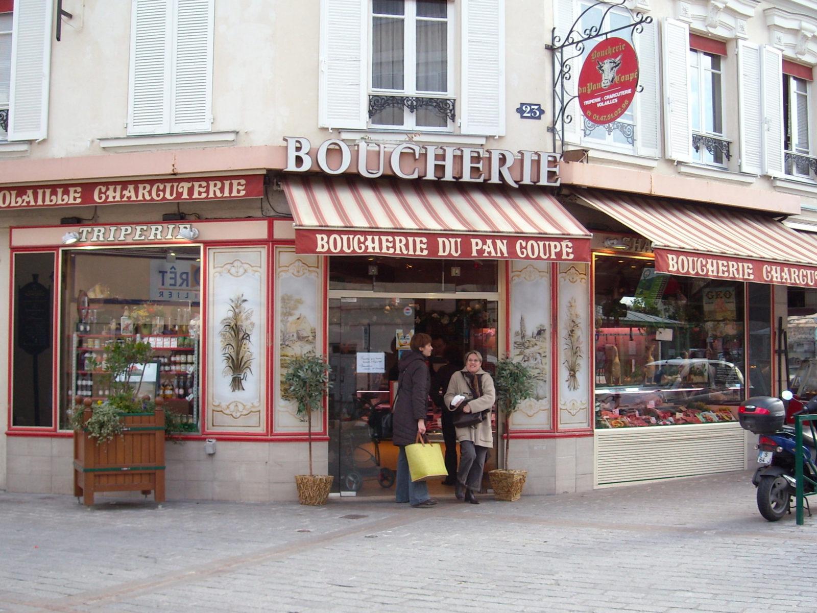 La Guéronnière Renovation Facade Boutique Bois Paris 2