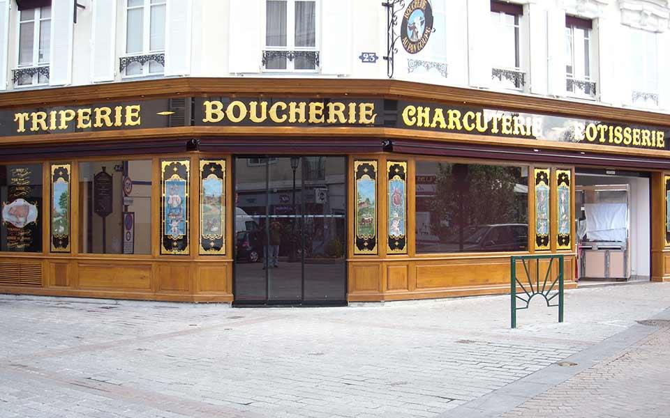 La Guéronnière Renovation Facade Boutique Bois Paris Img10